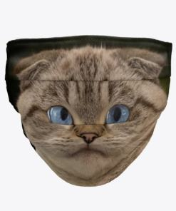 Scottish Fold Cat Face Mask