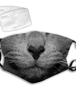 grey cat mask