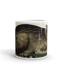 Medieval Cat Art Mug