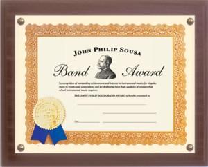 Sousa Certificate