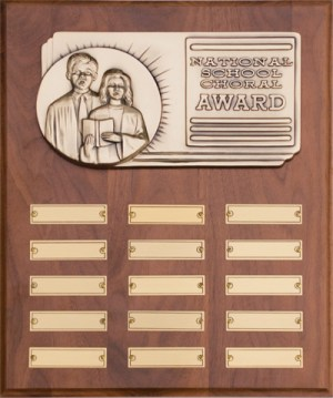 National School Choral Wall Plaque