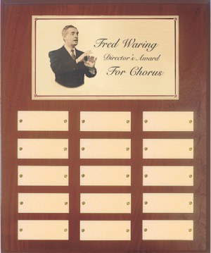 Waring Director's Award for Chorus Wall Plaque