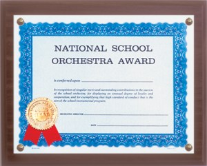 National School Orchestra Certificate