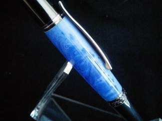 "Birthday Gift for Her - ""Summer Sky"" Custom Cast Rollerball Pen - Free Shipping in USA"