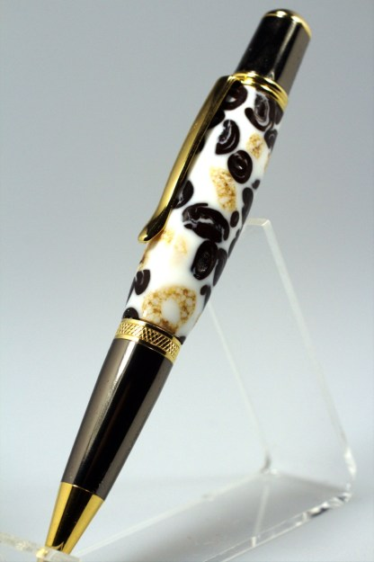 Handmade Gift for Her - Coffee, Cream and Cheerios Cast in Acrylic - Rollerball Pen - Free shipping in USA