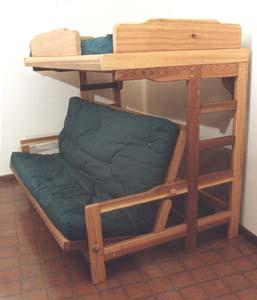 Bedroom Furniture Futon Bunk Bed Sofa Combo Plan
