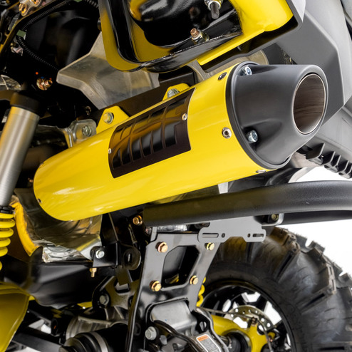 hmf slip on exhaust for can am outlander