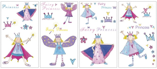 1pcs Princess Prince Fairy Tale Castle Wall Decals Stickers Home Decor Mural Kids Bedroom Kindergarten Poster