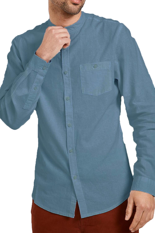 Mens Nehru Collar Shirts Linen