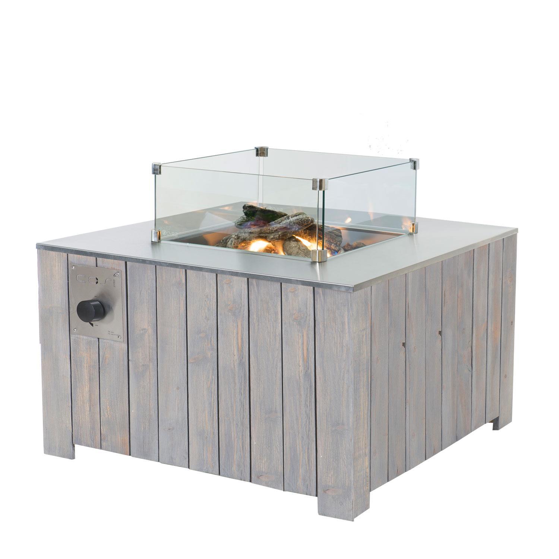 Cosi Glass 4 Panel Glass Fireplace Screen Accessory Fire