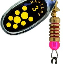 Spinner AGF Bk Yellow Dots