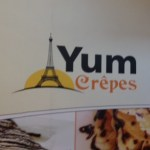 Yum Crepes sign