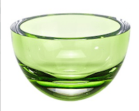 Leila green glass bowl
