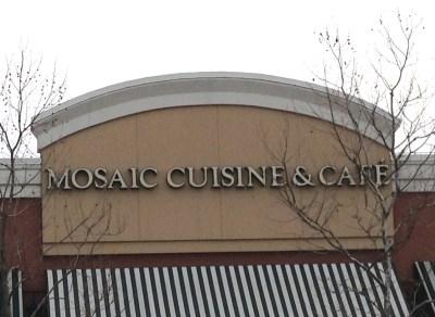 Mosaic Cuisine & Cafe sign