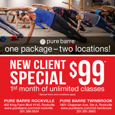 Pure Barre Twinbrook and Rockville: http://purebarre.com/md-twinbrook/