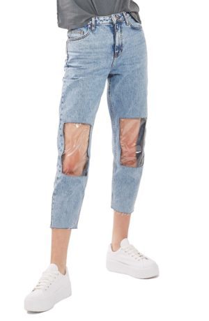 Clear Knee Mom Jeans at Nordstrom