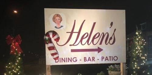 Helen's holiday sign