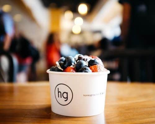Honeybar dessert from Honeygrow