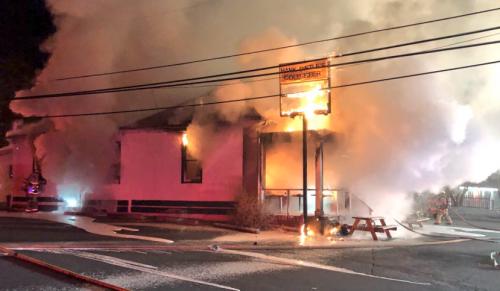 Hank Dietle's on fire
