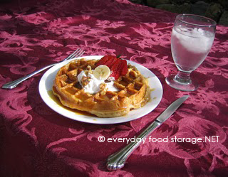 Blender Wheat Waffles