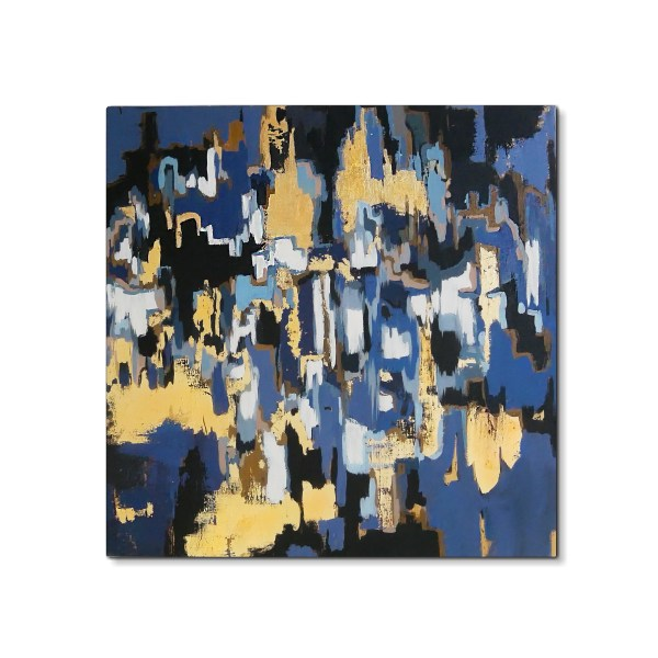 Modern Abstract Blue & gold painting