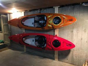 kayak hook storage rack steel wall mount hooks