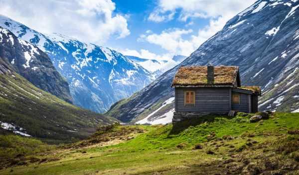 Обои гора, lodge, norwegian, раздел Природа, размер ...