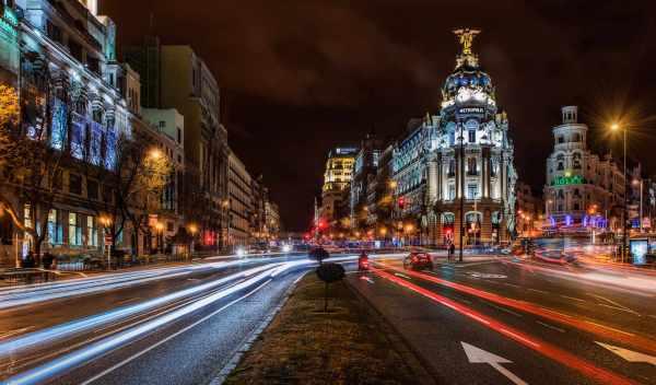 Обои город, ночь, испания, раздел Город, размер 1920x1196 ...