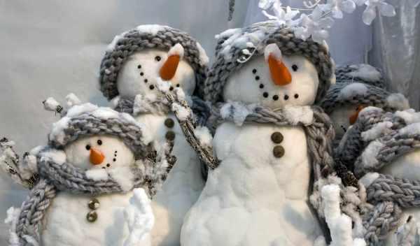 Обои снеговики, зима , раздел Праздники, размер 1600x1200 ...