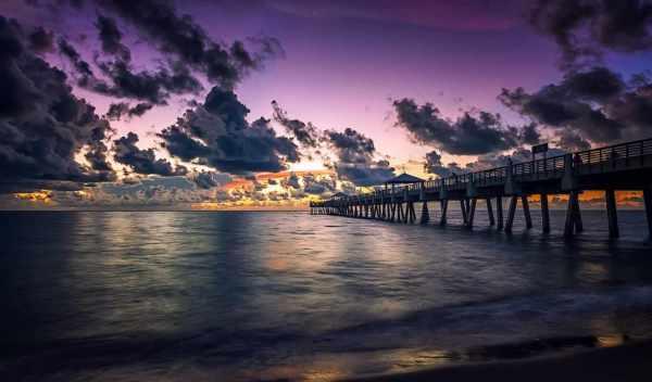 Обои pier, закат, море, раздел Природа, размер 1920x1200 ...