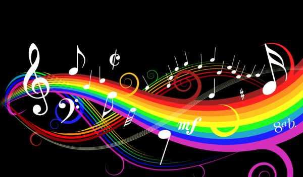 Обои музыка, notes, black , раздел Абстракция, размер ...