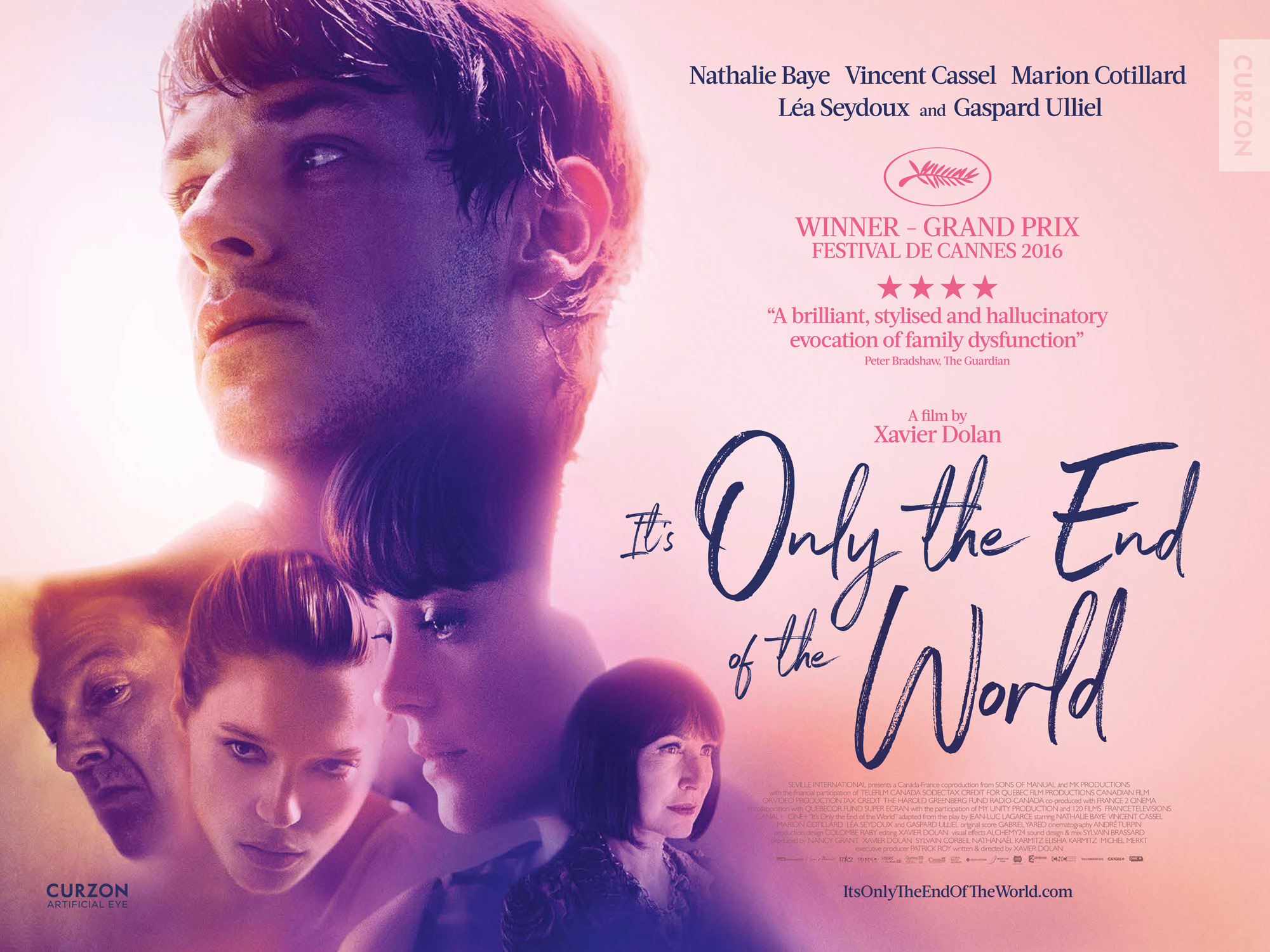 IT'S ONLY THE END OF THE WORLD...https://storgy.com/2017/03/18/film-review-its-only-the-end-of-the-world/