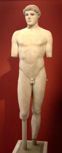Efebo di Crizio. Atene, Museo dell'acropoli 698.
