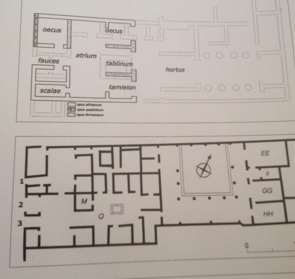 La citt di pompei pt 6 le case di iii secolo a c for Planimetrie della casa del garage
