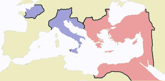 Impero Romano d'Occidente e d'Oriente
