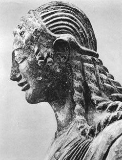 L'Apollo di Veio, particolare con la testa