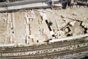 Foto Aerea scavi angolo nord-occidentale dell'Agorà di Atene