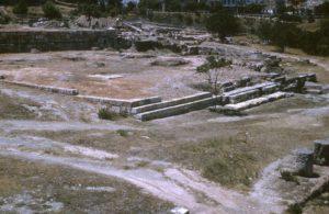Agorà di Atene - lato meridionale con la posizione dell'Aiacheion