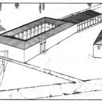 Gli edifici A,B,C,D che formavano un complesso per i processi civili ad Atene