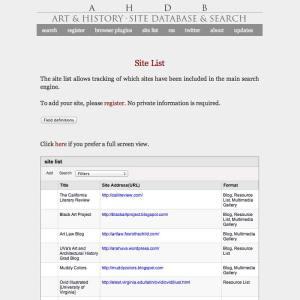Art History Database