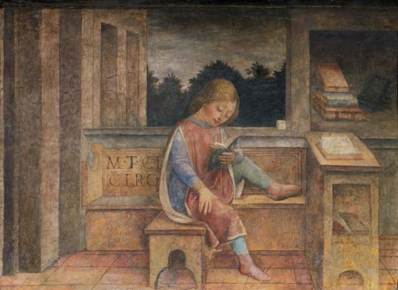 Foppa, Cicerone bambino che legge