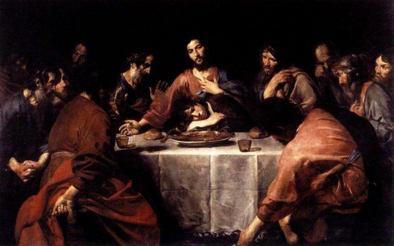Valentin de Boulogne, Ultima Cena. 1625–26, Roma, Galleria Nazionale d'Arte Antica