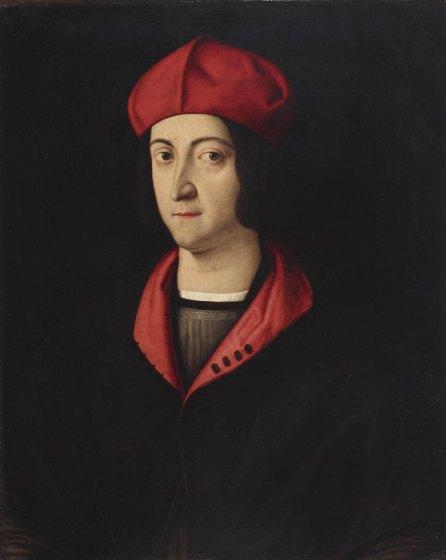 Bartolomeo Veneto (attribuito a), Ritratto di Ippolito d'Este
