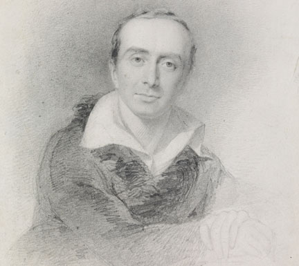Detail from: John Partridge, 'Sir Charles Lock Eastlake', 1825  © By Courtesy of the National Portrait Gallery, London