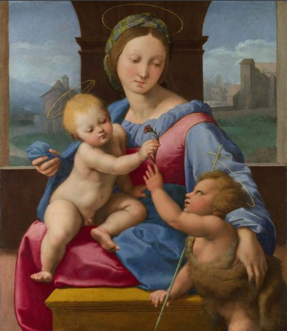 Raphael, The Madonna and Child with the Infant Baptist (The Aldobrandini Madonna or The Garvagh Madonna)