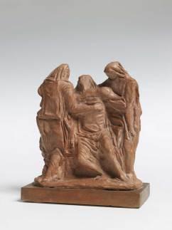 Arturo Martini, Pietà, 1945-1946, gesso patinato a terracotta, cm 23x20x10, Treviso, collezione privata