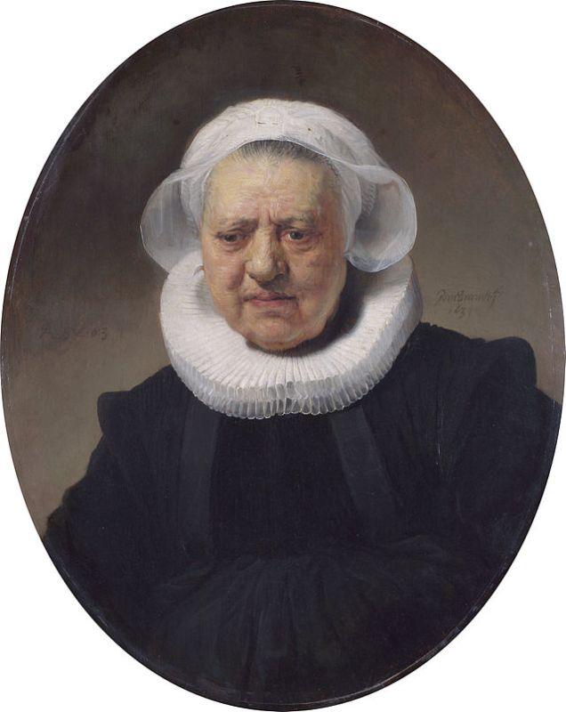 Rembrandt, Ritratto di Aechje Claesdr