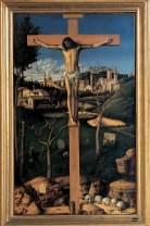 Giovanni Bellini, Cristo crocifisso in un cimitero ebraico. Vicenza, Banca Popolare di Vicenza