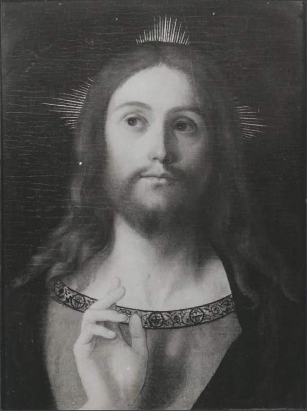 4. Giovanni Bellini, Christ Blessing, Hamburg, Galerie Hans, (Bernard Berenson Photo Library, Villa i Tatti)