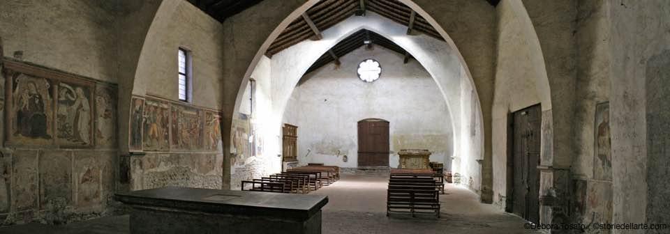 La chiesa di San Bartolomeo ad Albino. Veduta dell'interno